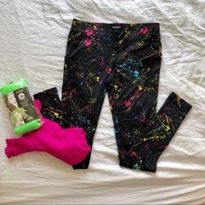 Neon Splatter '80s Inspired Leggings & Leg Warmers